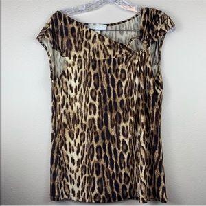 • Michael Kors • Leopard Print Blouse